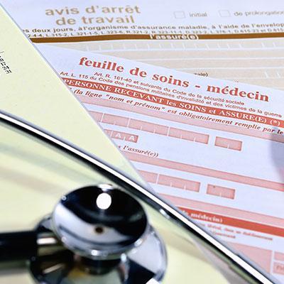 Feuille de soins médecin arrêt de travail